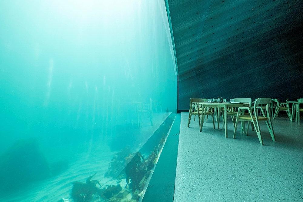 Avrupa'nın ilk denizaltı restoranı Norveç'te açıldı galerisi resim 1