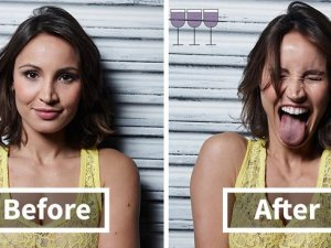 İnsanlar 1, 2 ve 3 Kadeh Şaraptan Sonra Nasıl Görünür?