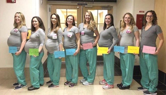 Aynı hastanede 9 Hemşire birden hamile ! galerisi resim 2