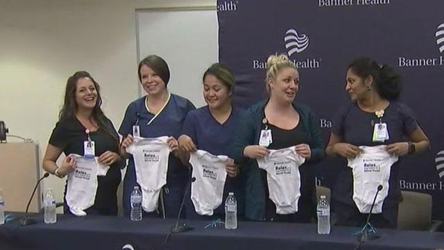 Aynı hastanede 9 Hemşire birden hamile ! galerisi resim 7