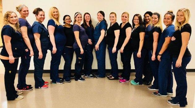 Aynı hastanede 9 Hemşire birden hamile ! galerisi resim 9