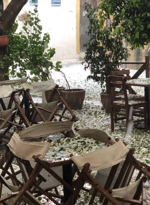 Girne'de ceviz kadar dolu yağdı. İşte görüntüler galerisi resim 5