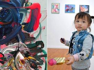 Tabloları 1600 dolara alıcı bulan 2 yaşındaki ressam: Lola June