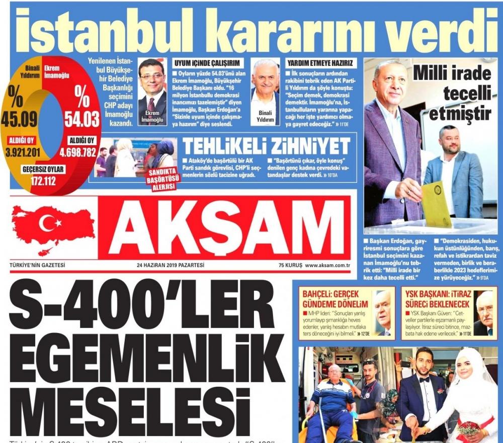 İktidar gazeteleri İmamoğlu'nun zaferini nasıl gördü? galerisi resim 1