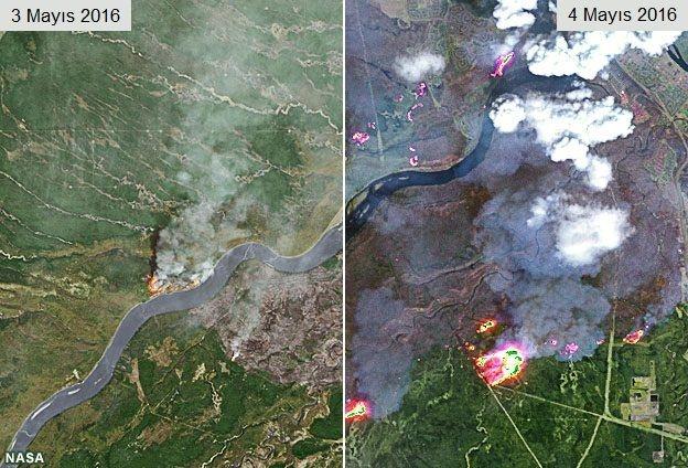 Kanada'da yangın: Bir kentin yüzde 20'si yandı galerisi resim 4