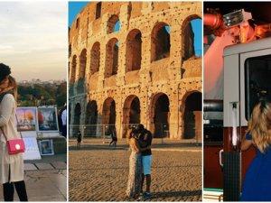 Sevgilisinden ayrılınca yabancılarla öpüşüp poz veren turist