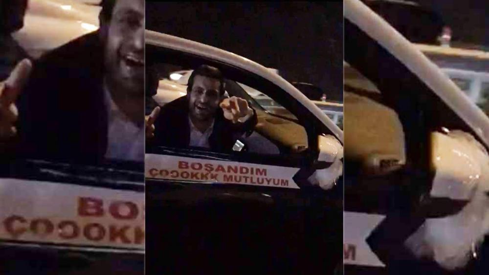 """İstanbul sokaklarında """"boşandım"""" konvoyu galerisi resim 3"""