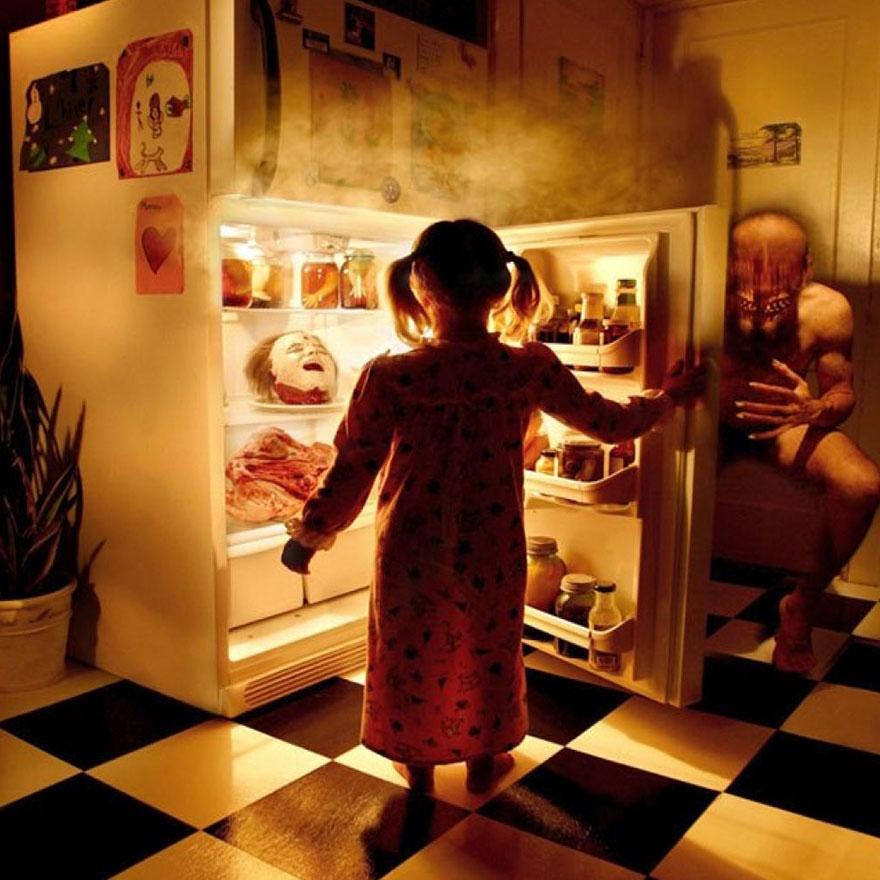 Çılgın fotoğrafçıdan kızları ile korku filmlerini aratmayacak çekimler galerisi resim 1