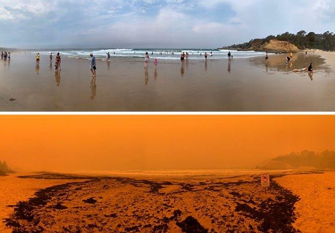 Fotoğraflarla Avustralya yangınlaın öncesi ve sonrası galerisi resim 1