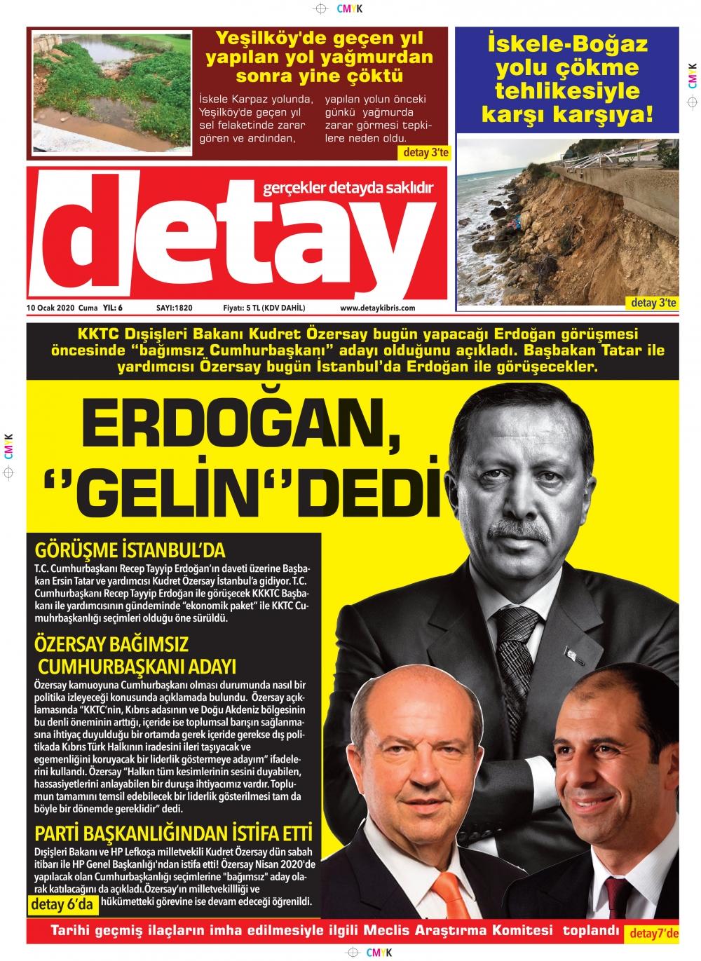 Detay Gazetes 10 Ocak 2020 galerisi resim 1