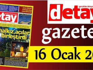 Detay Gazetes 16 Ocak 2020