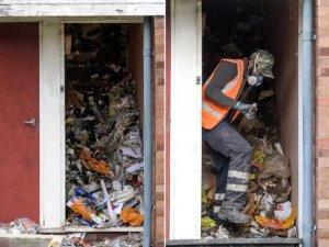 63 yaşındaki adamın cesedi evindeki çöp yığınının içinden çıktı!