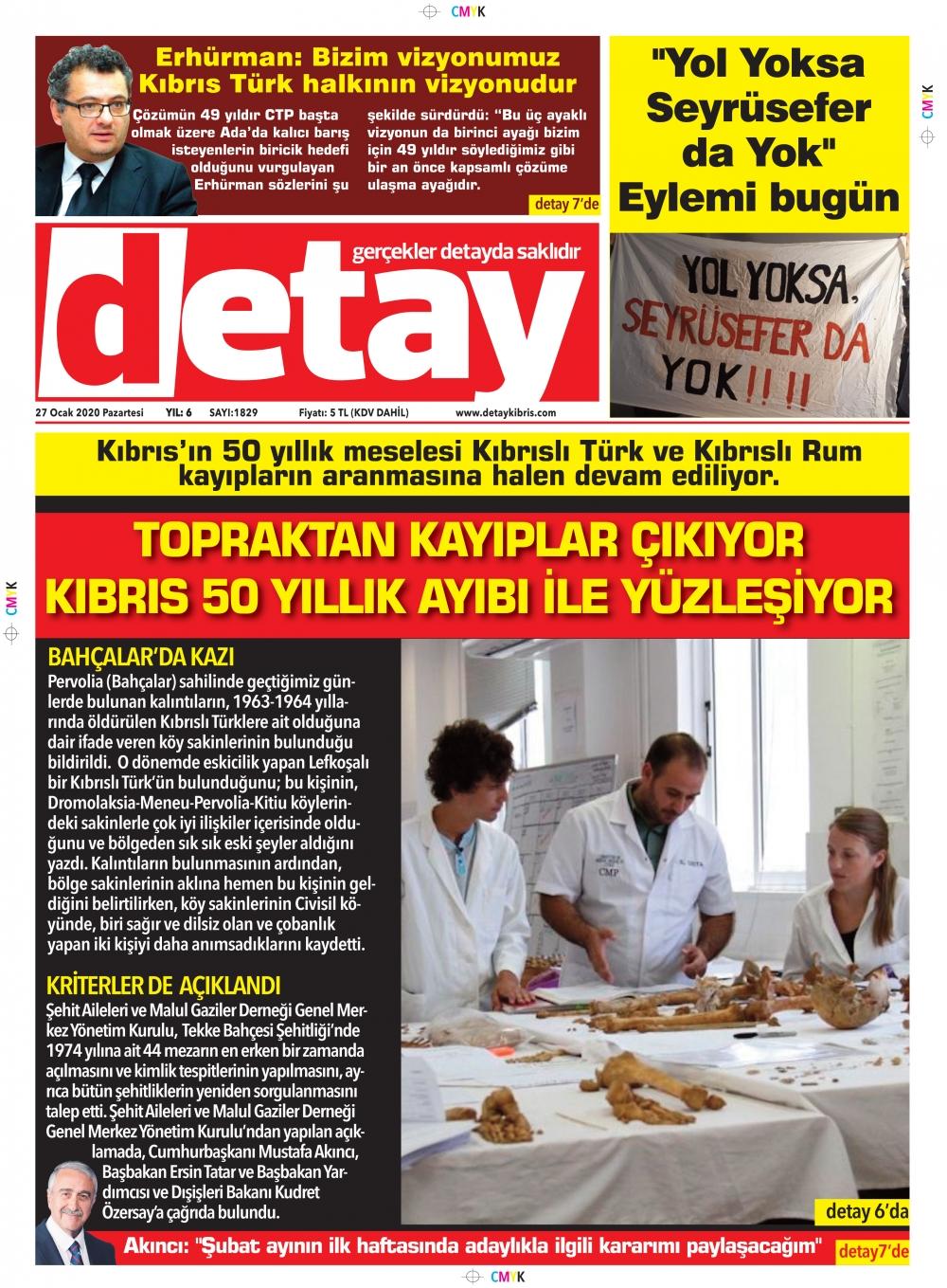 Detay Gazetes 27 Ocak 2020 galerisi resim 1