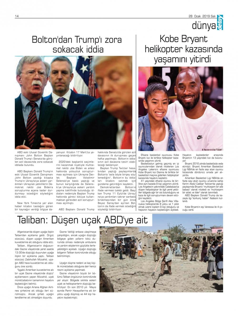 Detay Gazetes 22 Ocak 2020'da ne yazdı? galerisi resim 12