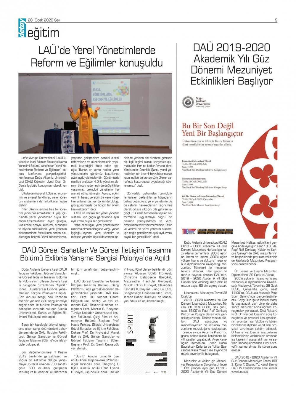 Detay Gazetes 22 Ocak 2020'da ne yazdı? galerisi resim 14
