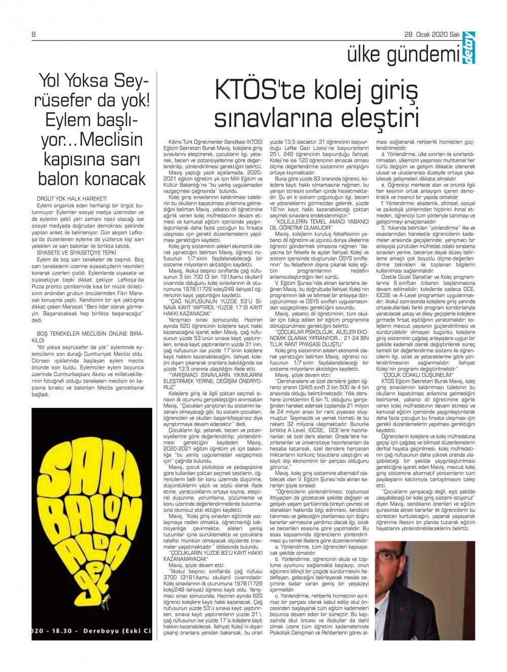 Detay Gazetes 22 Ocak 2020'da ne yazdı? galerisi resim 6