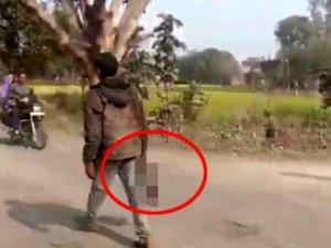 Eşinin kafasını kesen cani koca, kesik başla 1 kilometre yürüdü