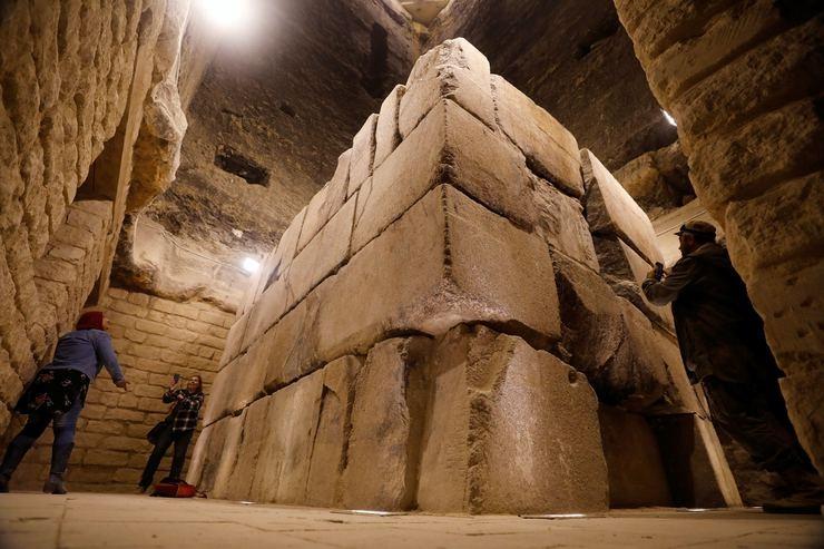 Mısır'ın en eski piramidinin içinden görüntüler galerisi resim 1