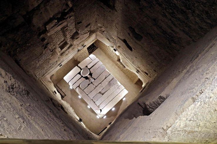 Mısır'ın en eski piramidinin içinden görüntüler galerisi resim 2