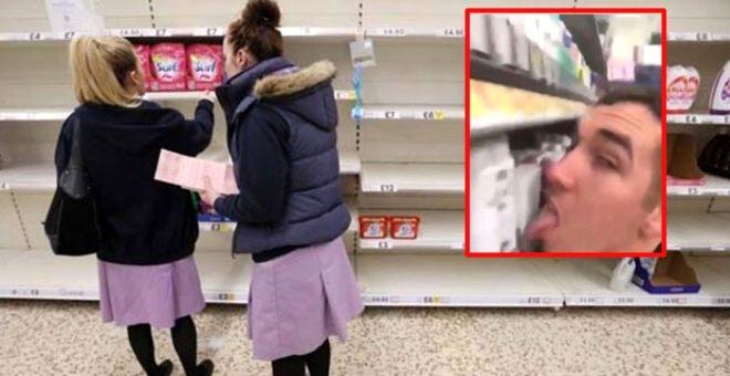 'Kim korkar koronadan' diyerek marketteki deodorantları yaladı galerisi resim 2