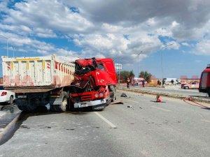 2 kişinin yaralandığı kazadan görüntüler