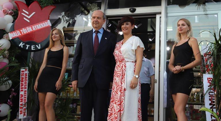 Başbakan Ersin Tatar Gazimağusa'da mağaza açılışına katıldı galerisi resim 1