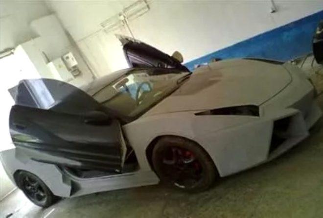 Elindeki hurda aracı, Lamborghini'ye dönüştürdü! galerisi resim 1
