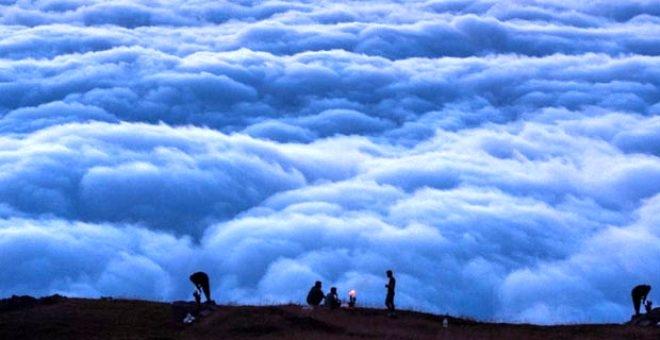 Bulutların üzerindeki yayla seyri doyumsuz manzarasıyla büyülüyor galerisi resim 1