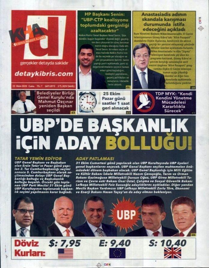 KKTC'de Gazeteler Bugün Ne Yazdı? 23 Ekim 2020 Cuma galerisi resim 1