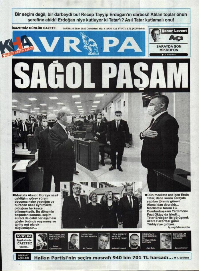 KKTC'de Gazeteler Bugün Ne Yazdı? 24 Ekim 2020 Cumartesi galerisi resim 1