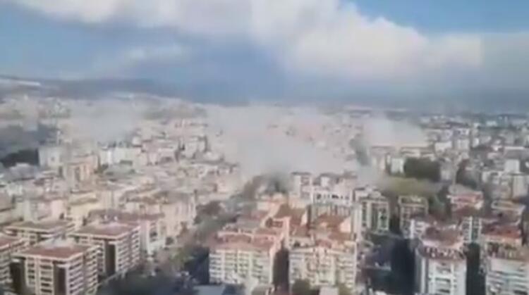 Son Dakika! İzmir'deki deprem ilk görüntüler! galerisi resim 1