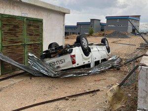 Fotoğraflarla Girne bölgesinde yaşanan felaket...