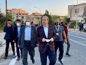 Cumhurbaşkanı Ersin Tatar, Kapalı Maraş'ı ziyaret etti
