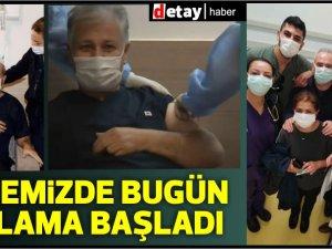 Pilli,Tatar,Saner ve Sağlıkçılar aşı oldu