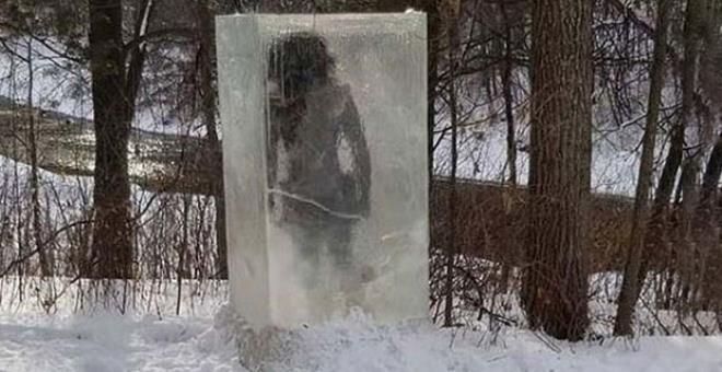 Parkta donmuş halde bulundu! Gizemli cisimle ilgili gerçek çok geçmeden  galerisi resim 1