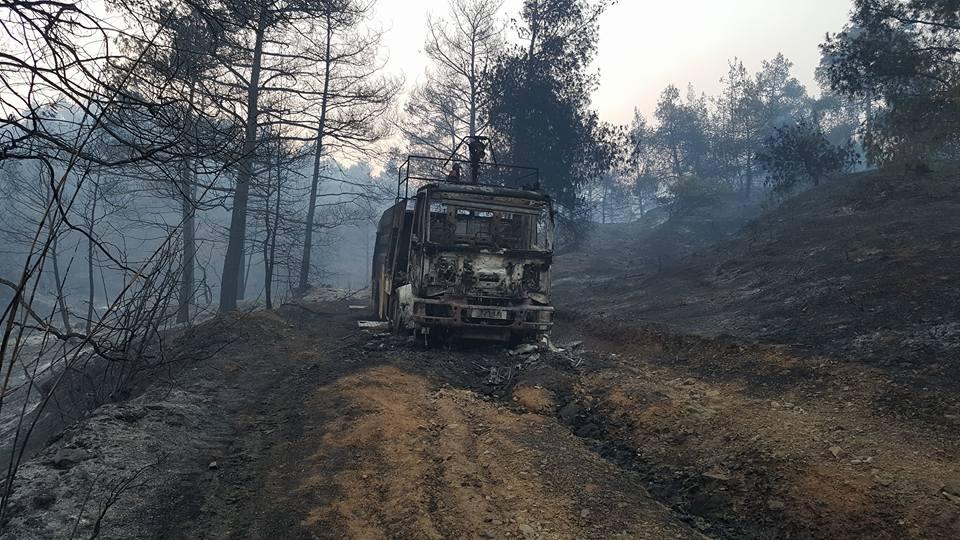 Yangın 2 can aldı. İşte Trodos'taki büyük yangından fotoğraflar galerisi resim 21