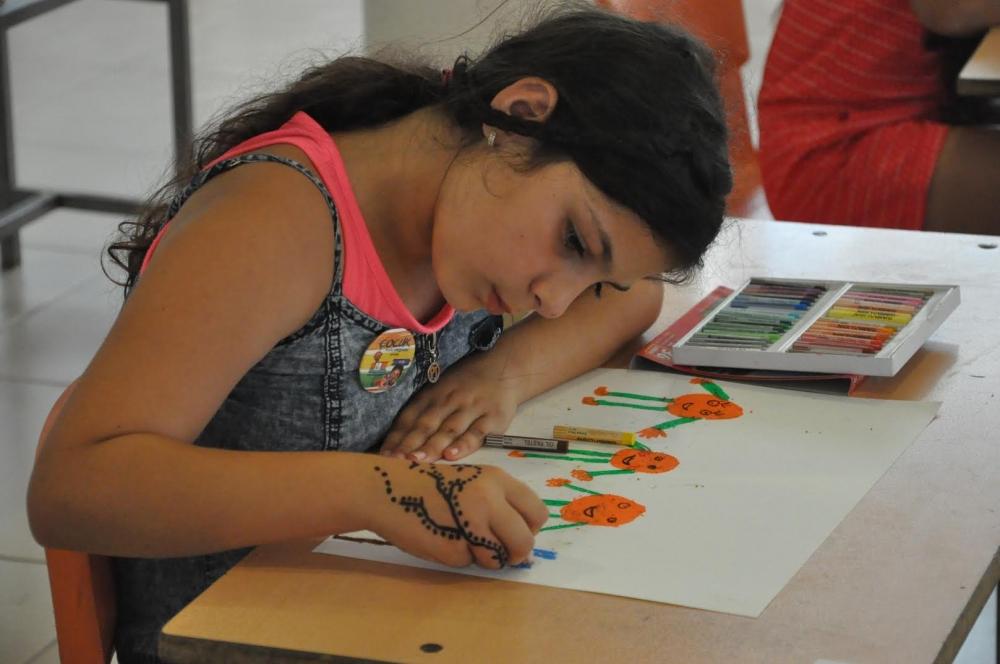 Çocuklar yeteneklerini boyalara döktü galerisi resim 1