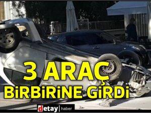 Lefkoşa'da 3 araç kaza yaptı...2 yaralı