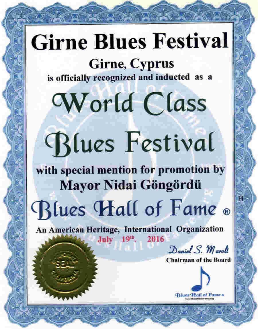 Girne Blues Festivali'ne Dünya Standardında Ödül galerisi resim 5