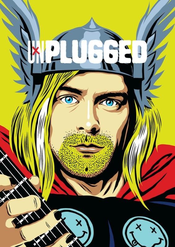 Ünlü gitaristlerin süper kahramana dönüştüğü illüstrasyon serisiyle tanı galerisi resim 11