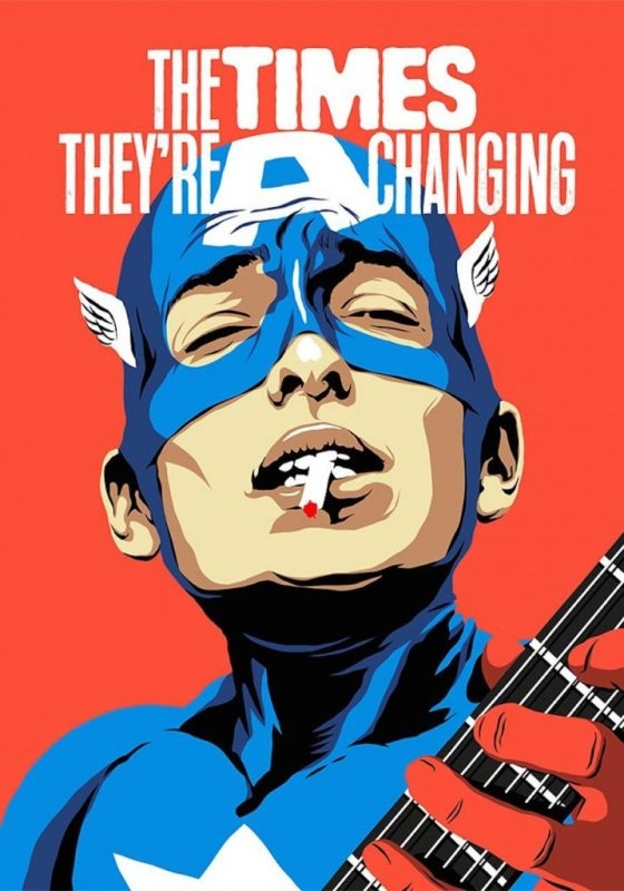 Ünlü gitaristlerin süper kahramana dönüştüğü illüstrasyon serisiyle tanı galerisi resim 3