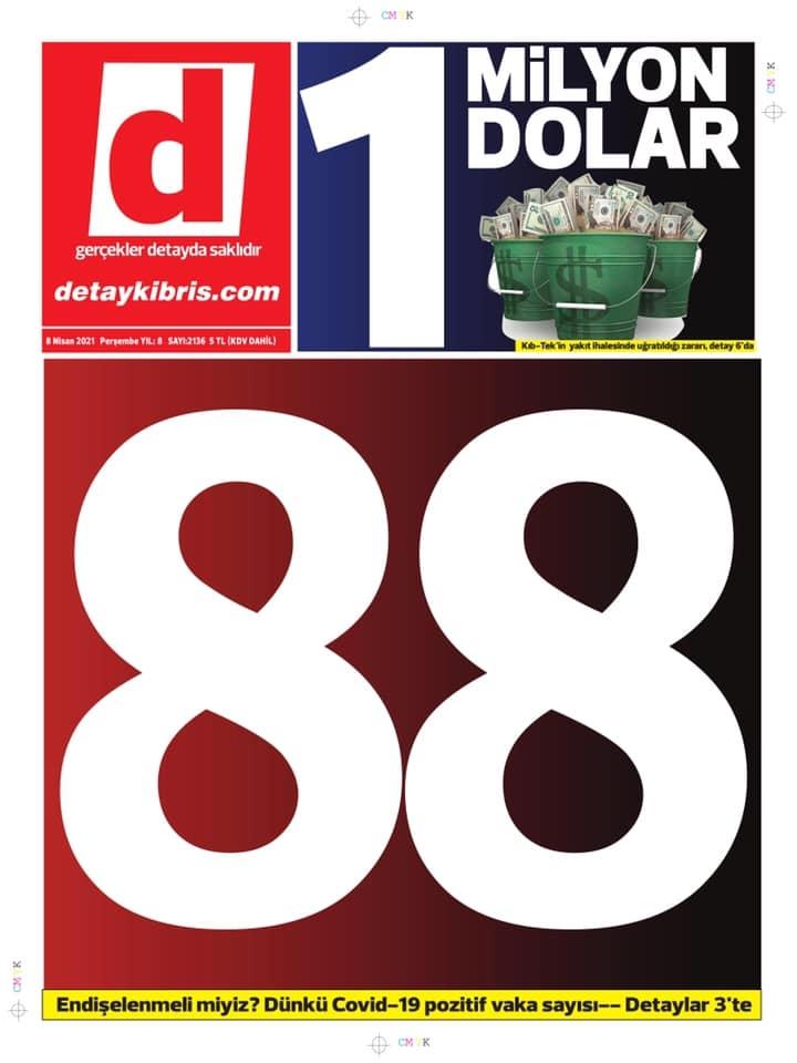 KKTC'de Gazeteler Bugün Ne Manşet Attı? (8 Nisan 2021) galerisi resim 1