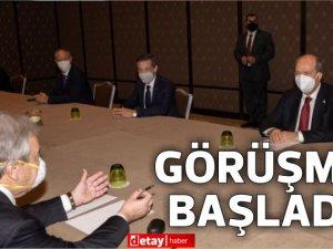 Guterres ve  Cumhurbaşkanı Tatar arasındaki ikili görüşme başladı