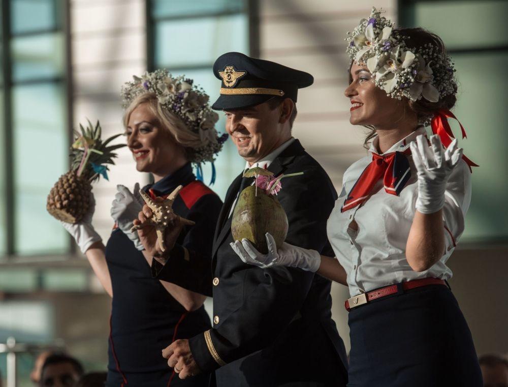 Moskova'da hostes moda defilesi galerisi resim 6