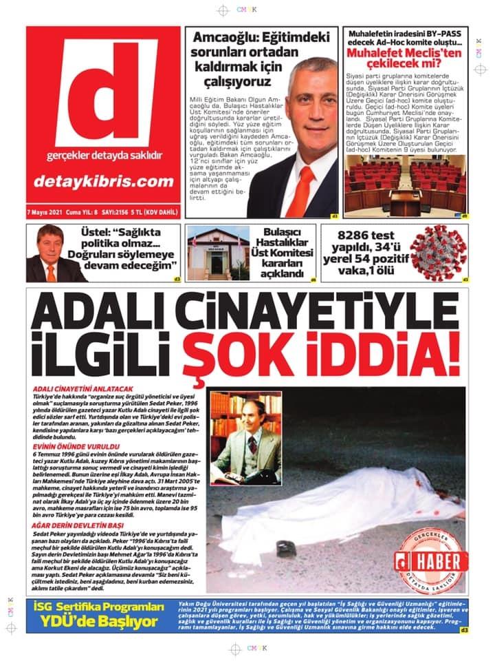 KKTC'de Gazeteler Bugün Ne Manşet Attı? (7 Mayıs 2021) galerisi resim 1