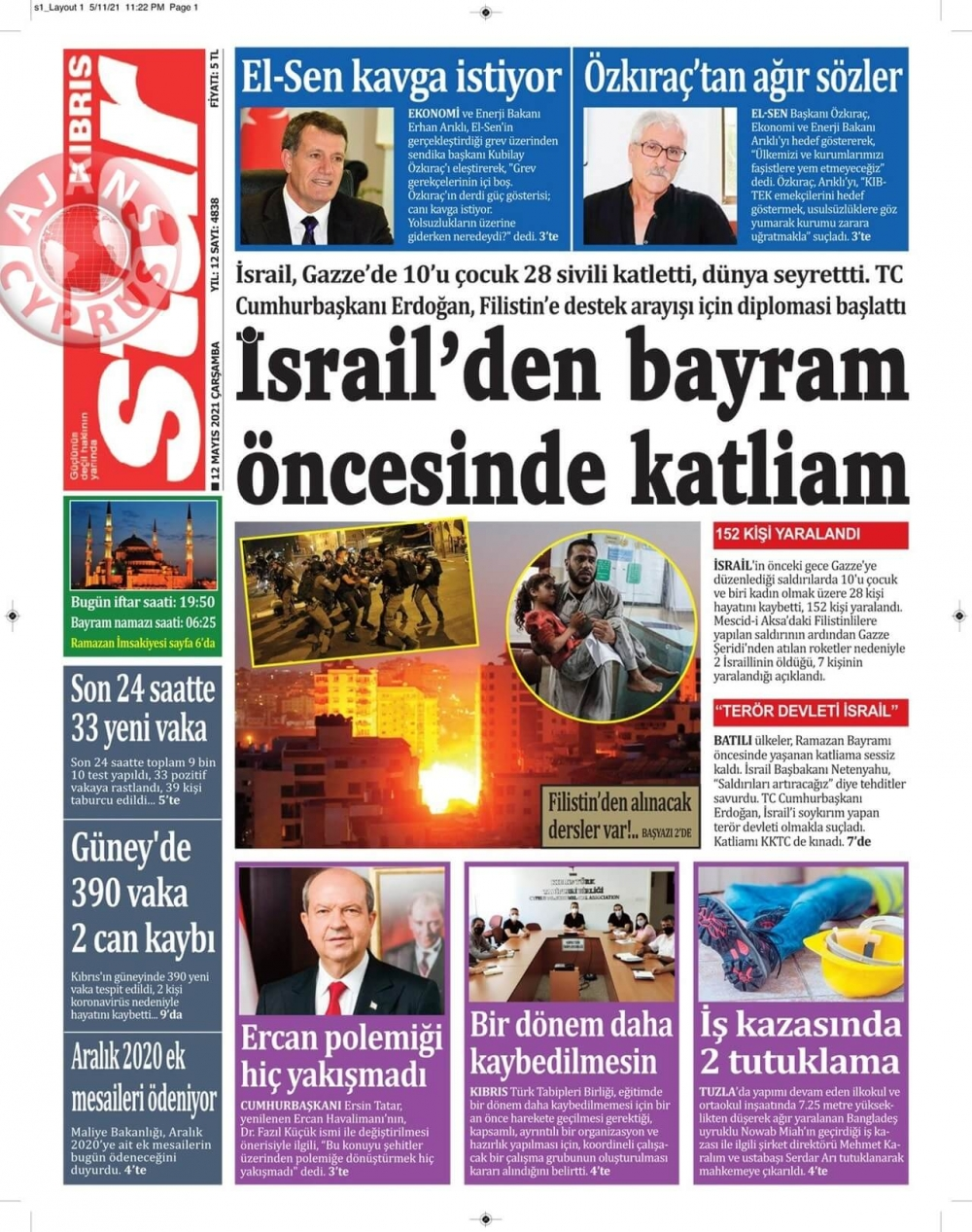 KKTC'de Gazeteler Bugün Ne Manşet Attı? (12 Mayıs 2021) galerisi resim 10