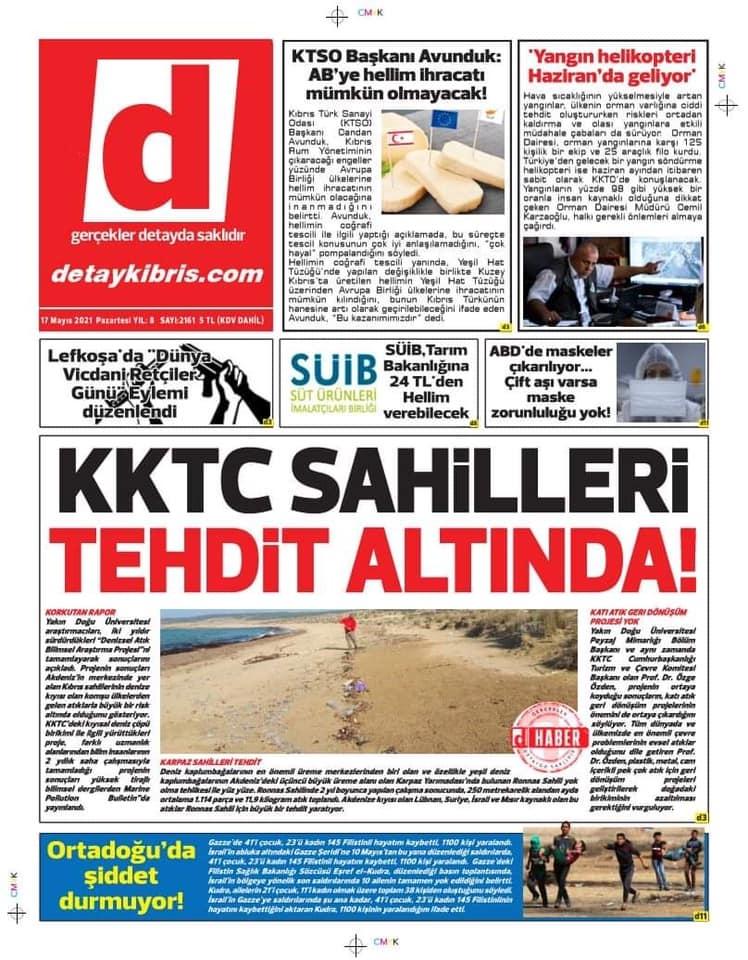 KKTC'de Gazeteler Bugün Ne Manşet Attı? (17 Mayıs 2021) galerisi resim 1