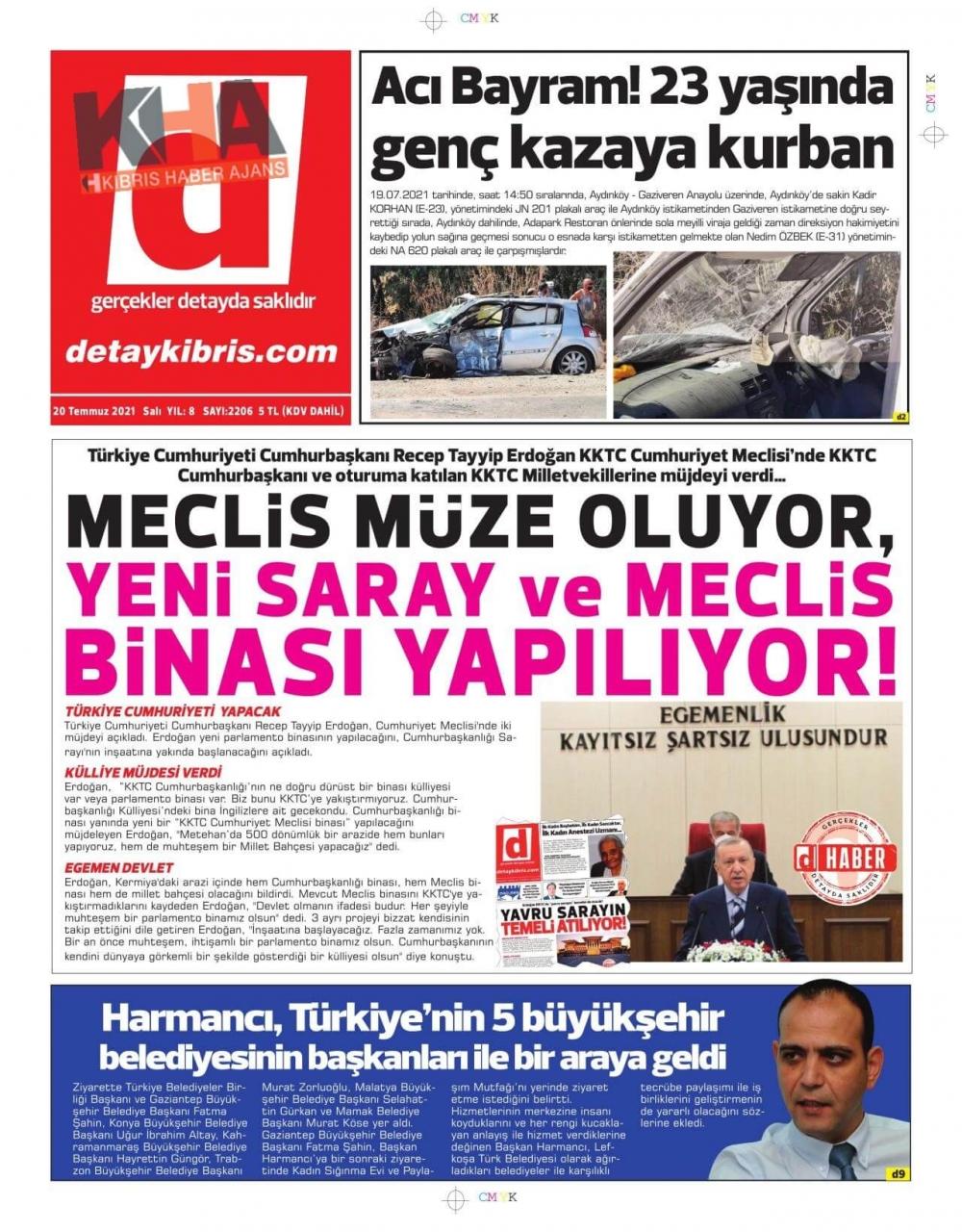 KKTC'de basılı gazeteler Erdoğan'ın Müjdesini nasıl gördü? galerisi resim 1
