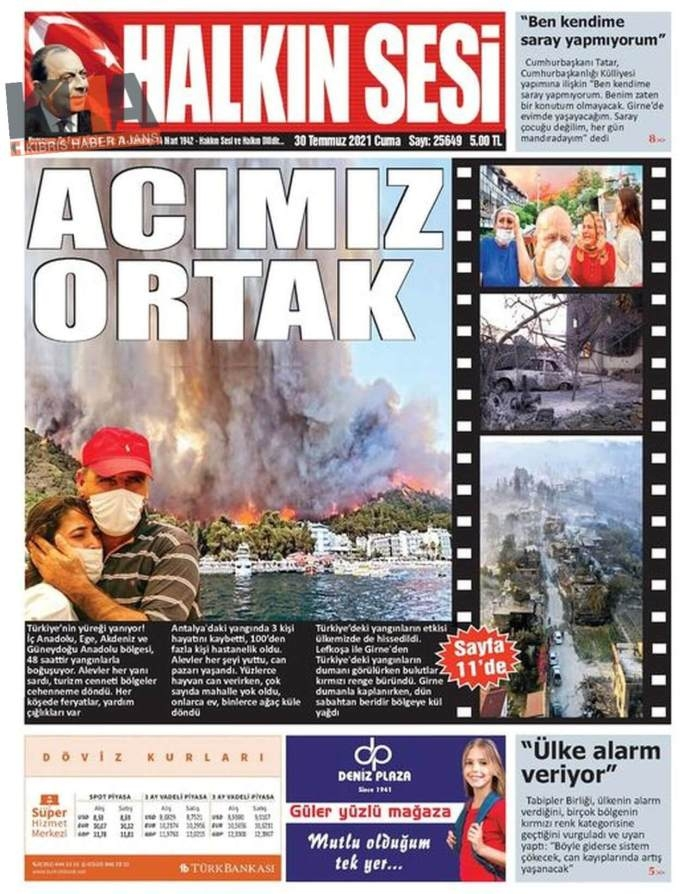 KKTC'de Gazeteler Bugün Ne Manşet Attı? (30 Temmuz 2021) galerisi resim 6