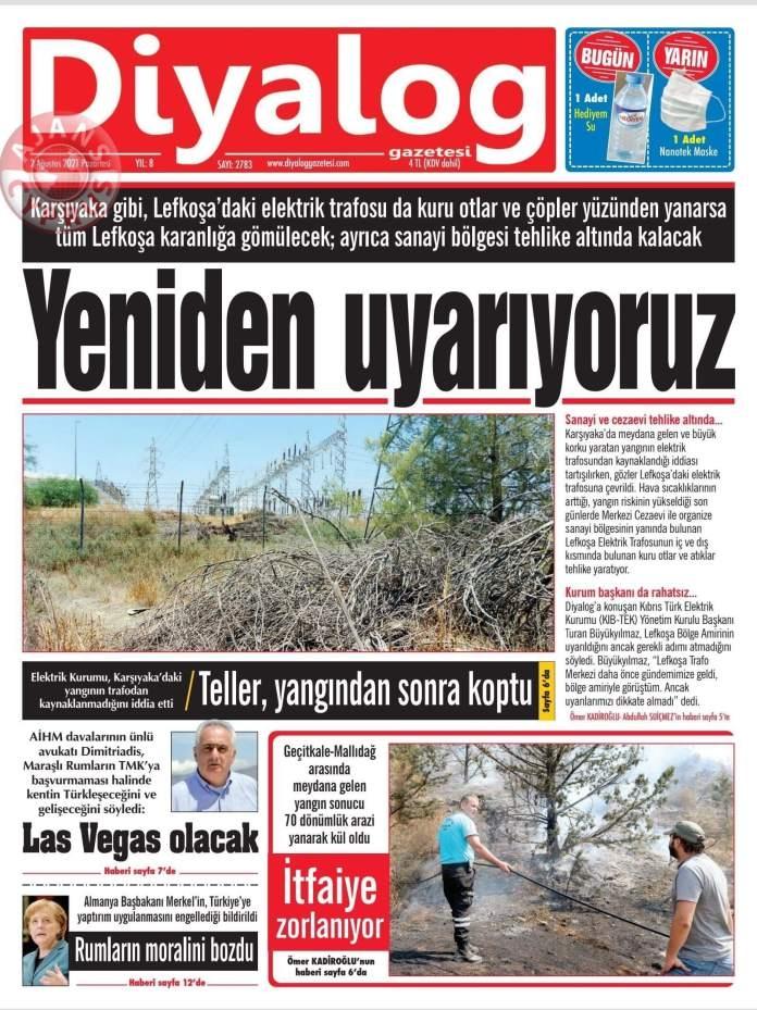 KKTC'de Gazeteler Bugün Ne Manşet Attı? (2 Ağustos 2021) galerisi resim 12
